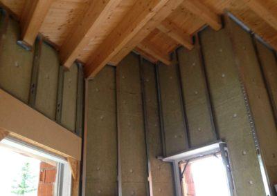 contropareti con isolamento termico lana ad alta densita,doppia lastra