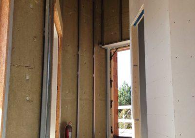 pareti e contropareti cartongesso ,isolamento termoacustico ,tetto in legno